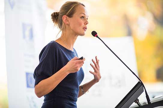 Public speaking skills training